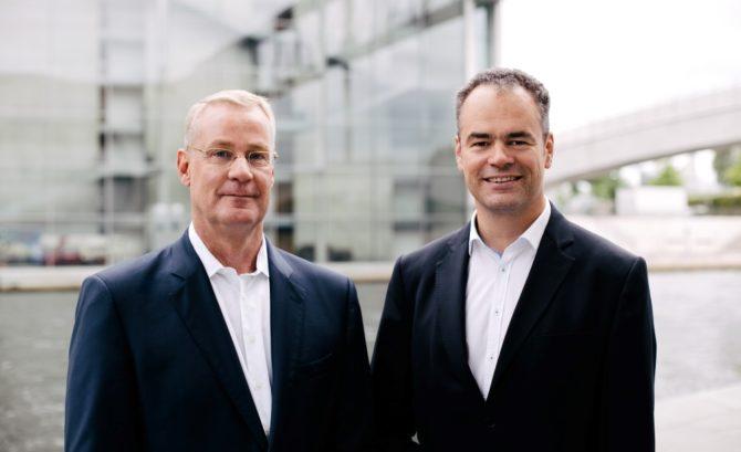 Gründer von meduplus: Prof. Dr. Claus Bartels (Herzchirurg) und Dr. Jörg Ansorg (Chirurg)